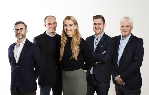 TV3s EM-lag studioeksperter: Christian Ramberg, Geir Oustorp,Isabel Blanco, Daniel Høglund, Frode Kyvåg