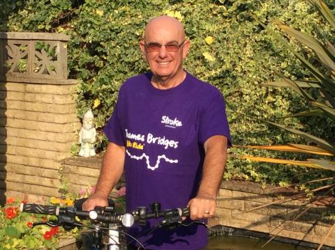Hampshire stroke survivor set to tackle Thames Bridges Bike Ride
