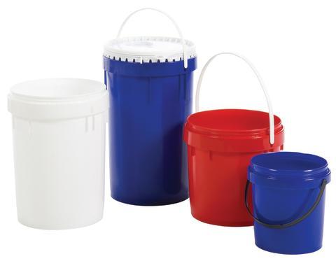 UN certifierat plastkärl för farligt gods.