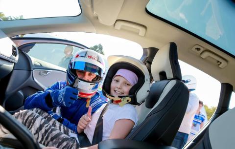 Fartfylld dag när Barnsjukhuset besöker Volvo