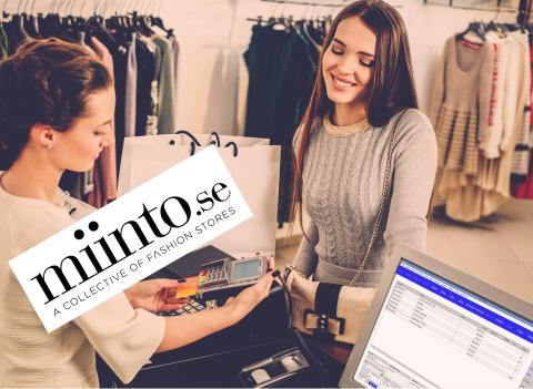 Kassasystem med Miinto ger butiken en smidig och kostnadseffektiv e-handel