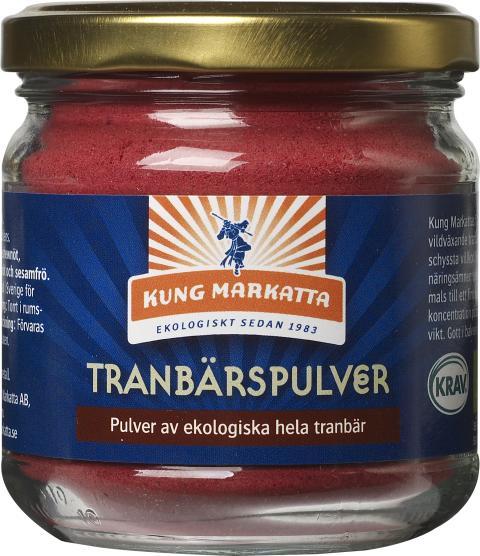 Kung Markatta Tranbärspulver.