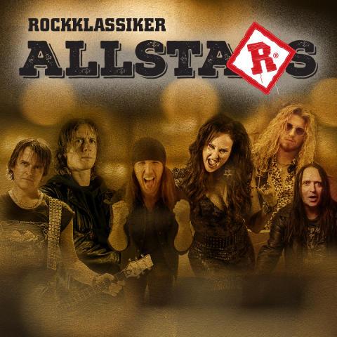 Uppsättningen inför Rockklassiker Allstars på Sweden Rock Festival 2019
