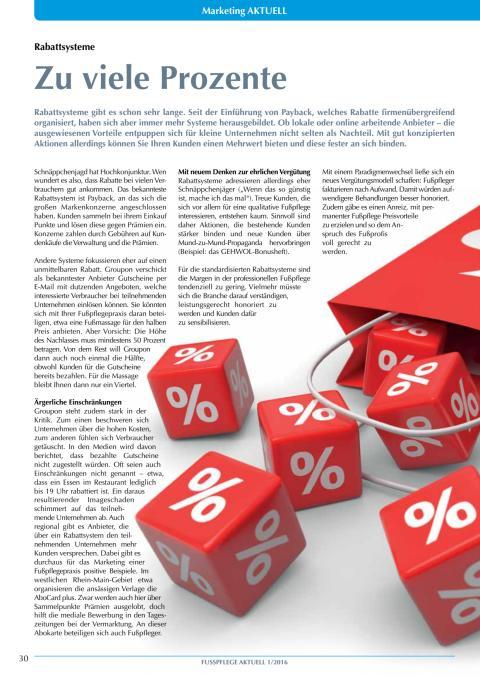 Rabattsysteme: Zu viele Prozente