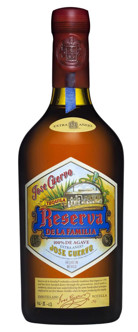 Jose Cuervo Reserva de la Familia flaska