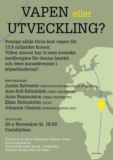 JAS-kritiker till Umeå i Globala veckan