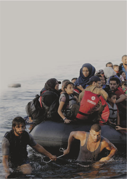 Flygntninge reddes i land i Grækenland
