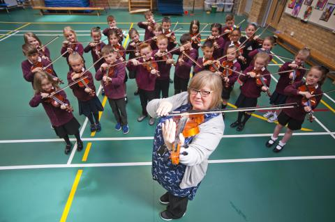 Education experiment creates a class of primary schoolmusicians