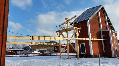 Stånggång vid Falu Gruva återuppbyggd