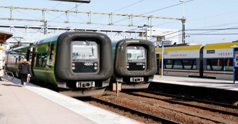 Måndagstrafik med Öresundståg som vanligt
