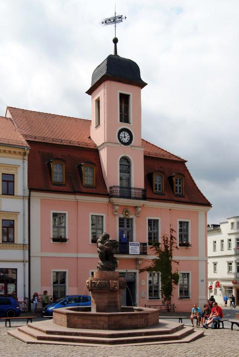 Ringelnatzbrunnen auf dem Marktplatz in Wurzen