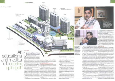 The Edge Property newspaper: RM1.1 billion plan for education and medical hub in Ipoh