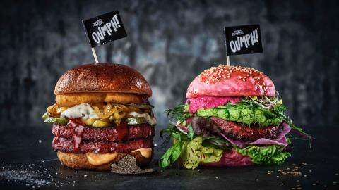 The Oumph Burger serving suggestion