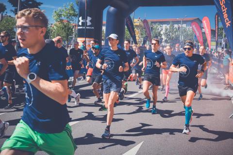 Der Startschuss für den Halbmarathon fiel bereits um 9:30 Uhr.