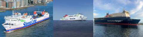 Stena Line förflyttar tre fartyg för att stärka linjenätet