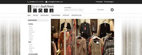 Webbshop till Jeansbutiken