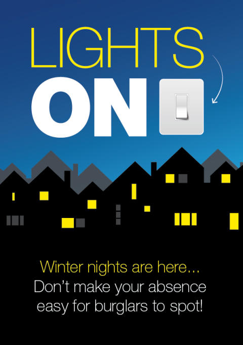 Officers in Hart and Rushmoor remind residents how to help deter burglars this winter
