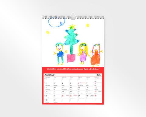 Seinäkalenteri 2019 piirustus