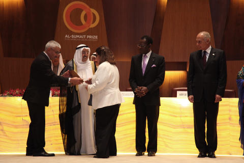 Dr Barbara Wells Receives Al Sumait Prize for African Development Food Security Category