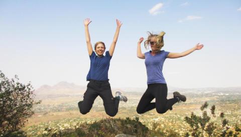 Anna Rehnberg och Hanna Norelius, praktikander IM i Malawi 2014