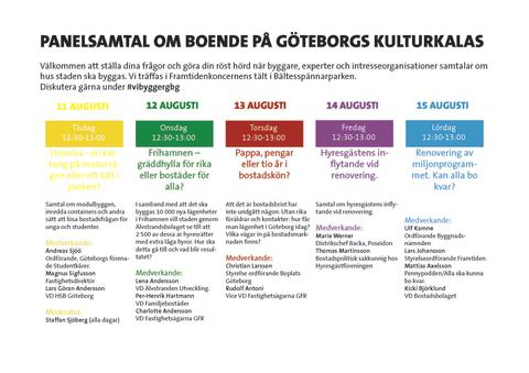 Debattprogram hos Framtiden på Kulturkalaset