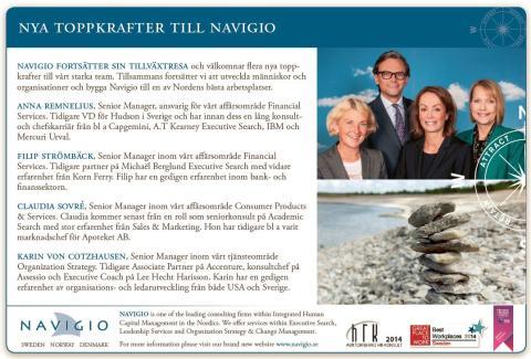 Navigio strengthens the team