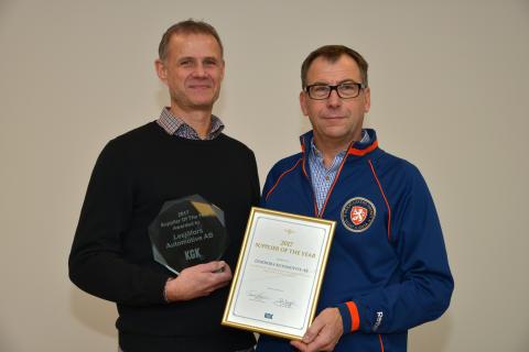 Lesjöfors Automotive AB blev Årets Leverantör 2017