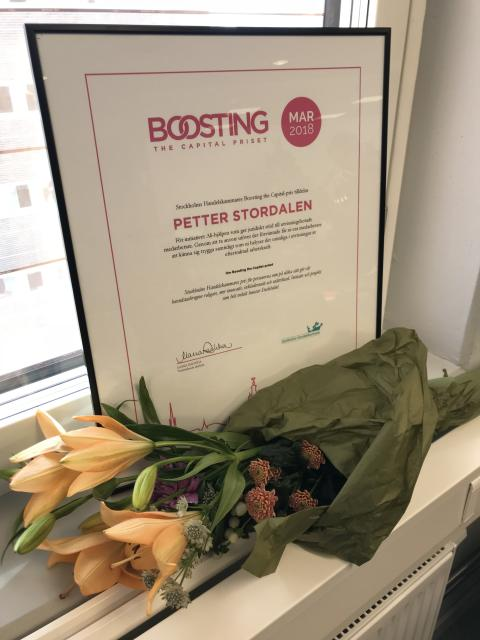 Petter Stordalen mottagare av Stockholms Handelskammares Boosting the Capital-pris