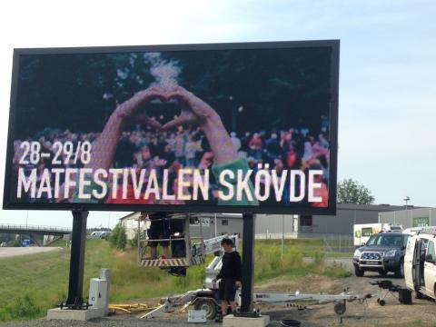 Pressinbjudan: Invigning av Skövdes digitala infartstavlor.
