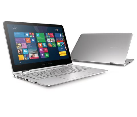 HP Spectre x360 Convertible PC with Windows 8.1 Updated Color Tile Screen, Hero, Right facing, Multiple view
