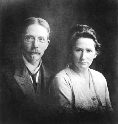 Grundare Novo Nordisk_August och Marie Krogh