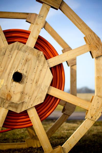 Grävstart för Bjäre Krafts fiberprojekt Lerbäckshult
