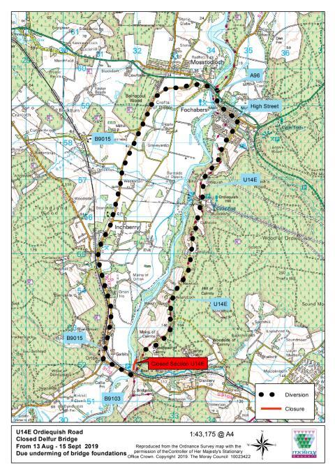 U14E Ordiequish Road closure