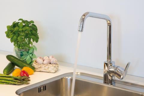 Pine kjøkkenkran miljøbilde