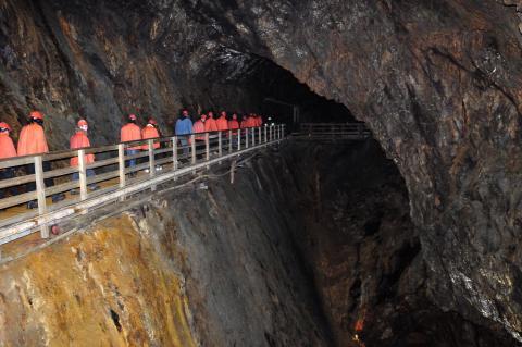 Falu Gruva guidad visning 55 meter under jord