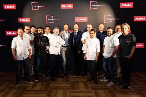 Chef´s Dialog: Tolv stjärnkockar från elva länder i kreativt utbyte på matlagningsevent hos Miele