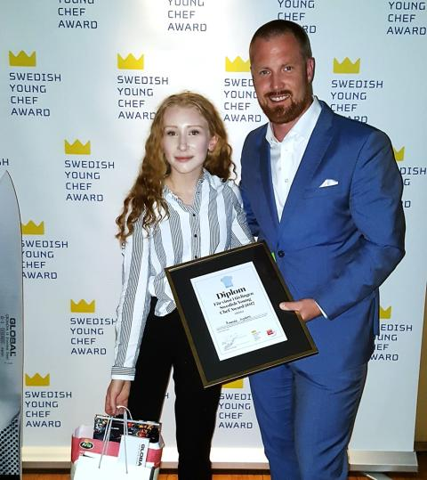 Menigo gratulerar årets kockelev - Amanda Lydahl