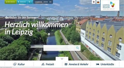 Die Internetseite www.leipzig.travel erstrahlt im modernen Design