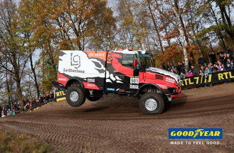 """Goodyears lastbilsdäck klara för Dakar 2016 – """"Odyséen"""""""