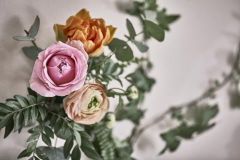 Romantisk lantidyll- snittblommor