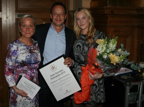 Såstaholm Hotell & Konferens vald till Årets Svenska Mötesplats 2015