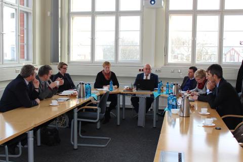 Arbeitsbesuch von Wissenschaftsstaatssekretärin Dr. Gutheil am 10. Januar 2017