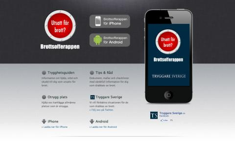 Ny app hjälper brottsdrabbade!