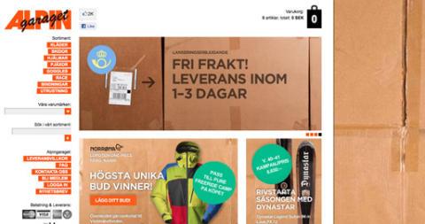 Alpingaraget slår upp dörrarna till sin nya nätbutik