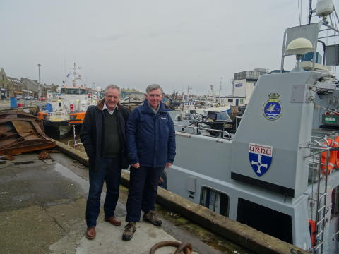 All aboard! Two Moray councillors enjoy Royal Navy experience on five-hour voyage up the Moray Firth.