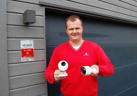 Verisure lanserer både innendørs og utendørs overvåkningskamera