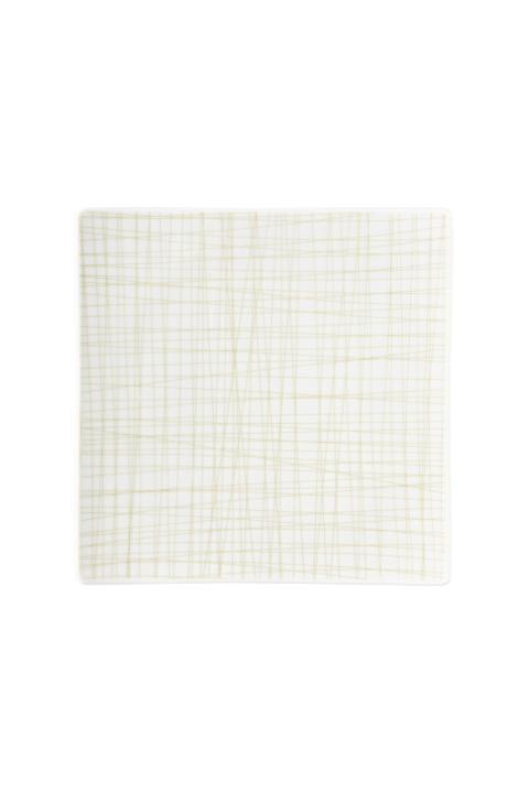 R_Mesh_Line Cream_Teller 22 cm quadr flach