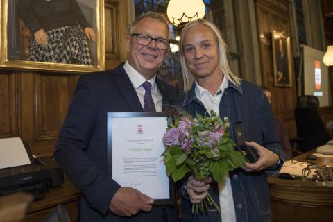Caroline Seger får utmärkelse av Helsingborgs stad