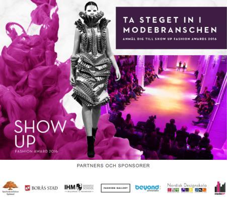 Årets modeentreprenörstävling – ansökan till Show Up Fashion Award 2016 är nu öppen!