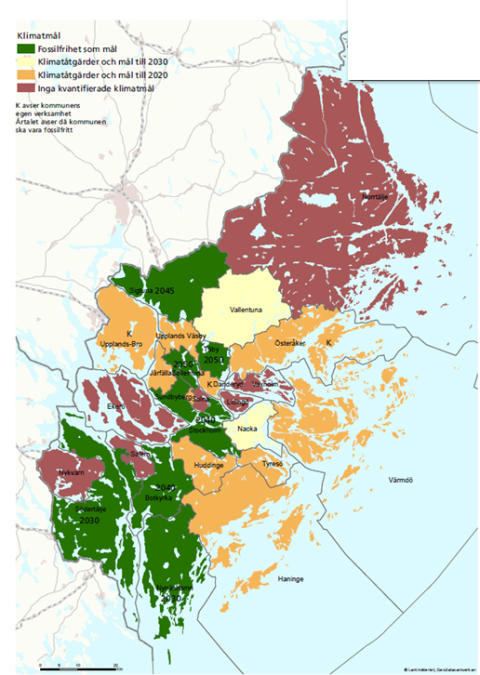 Regional klimatfärdplan ska göra Stockholmsregionen fossilfritt